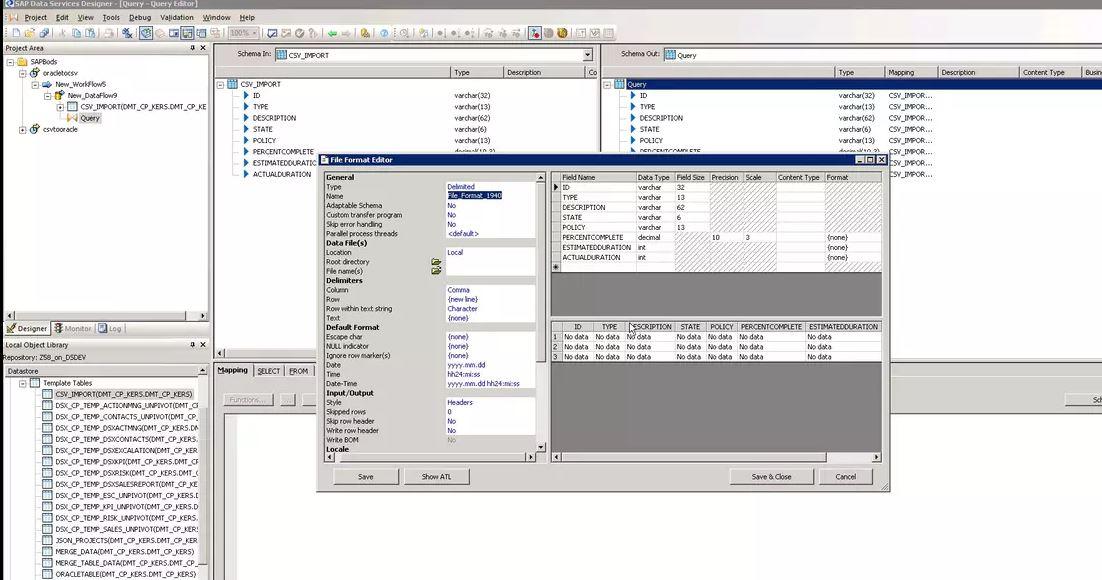 Database to CSV