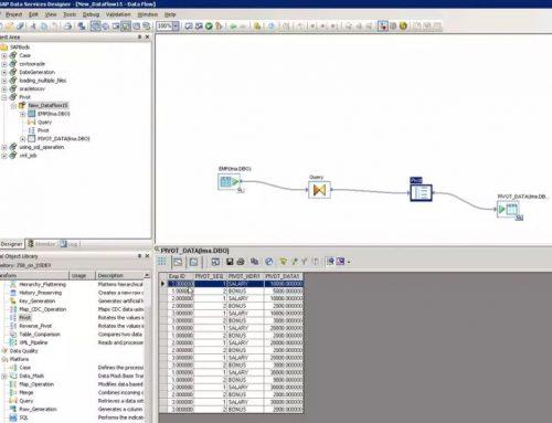 SAP BO Data Services Tutorial: Pivot