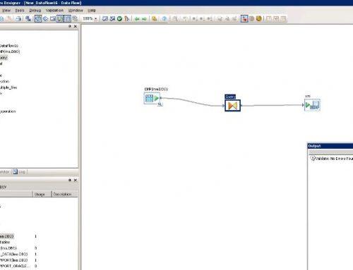 SAP BO Data Services Tutorial: sql to xml