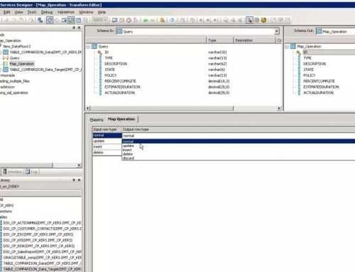 SAP BO Data Services Tutorial: Map operation