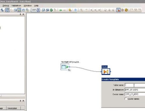 SAP BO Data Services Tutorial: sql to database